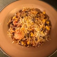 Skinny Chicken Enchilada Rice Bowl