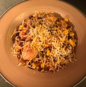 Skinny Chicken Enchilada Rice Bowl