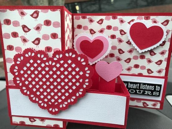 Z Fold Heart Card from Lori Whitlock