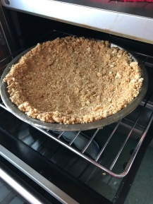 Bake the crust for 10 minutes