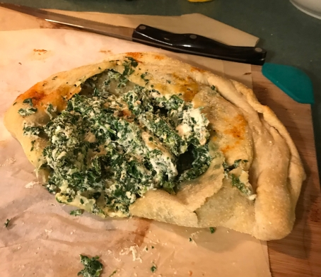 Far from perfect Spinach Cheese Calzone