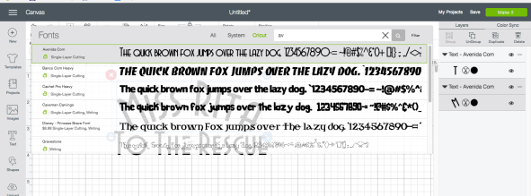 Choosing Your Font