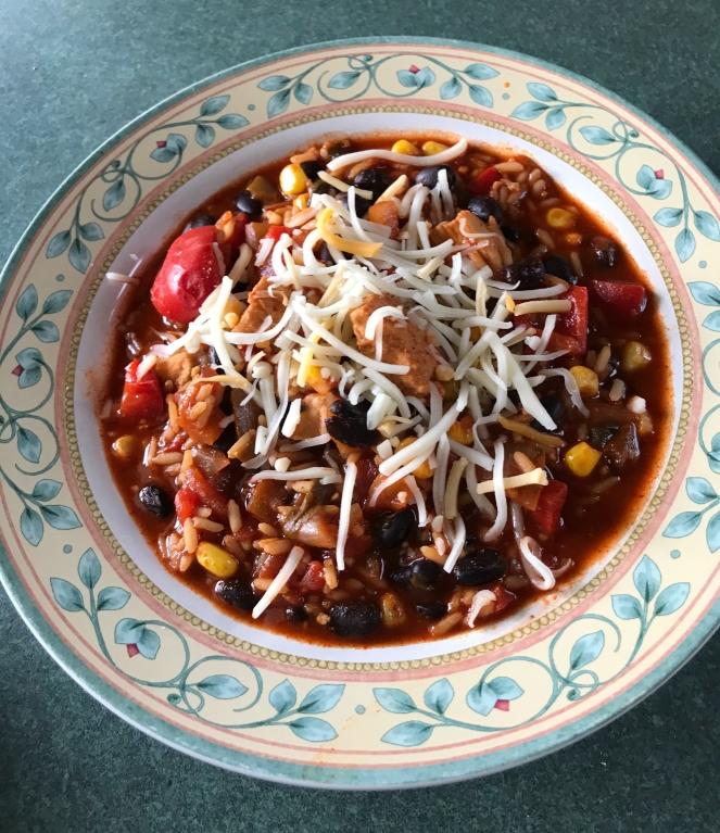 Skinny Chicken Enchilada Rice Bowls