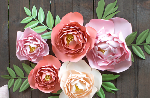 Paper Peonies by Lia Griffith
