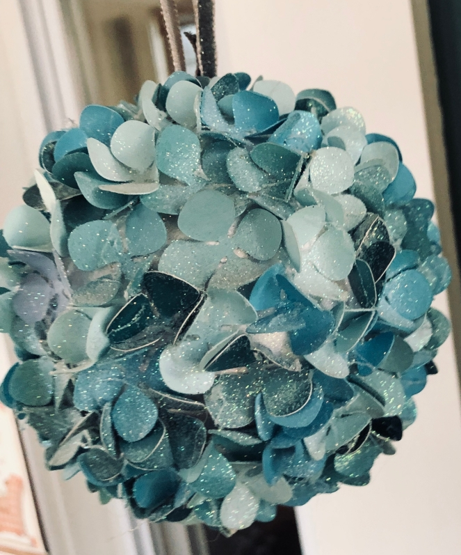 Glittered (or not!) Hydrangea Balls