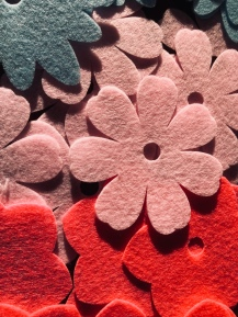 Cutting Felt flowers in the Cricut