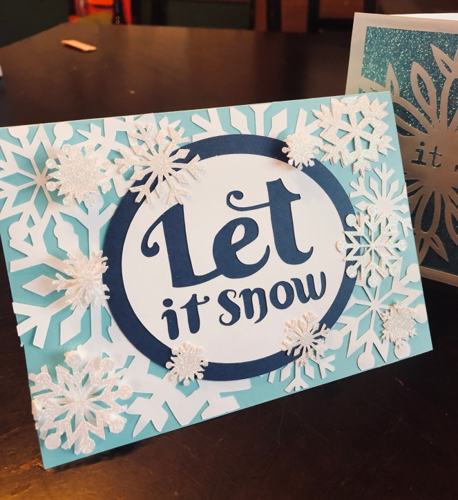 Joy Snowflake Winter Card, modified