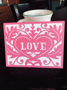 A Cricut created card