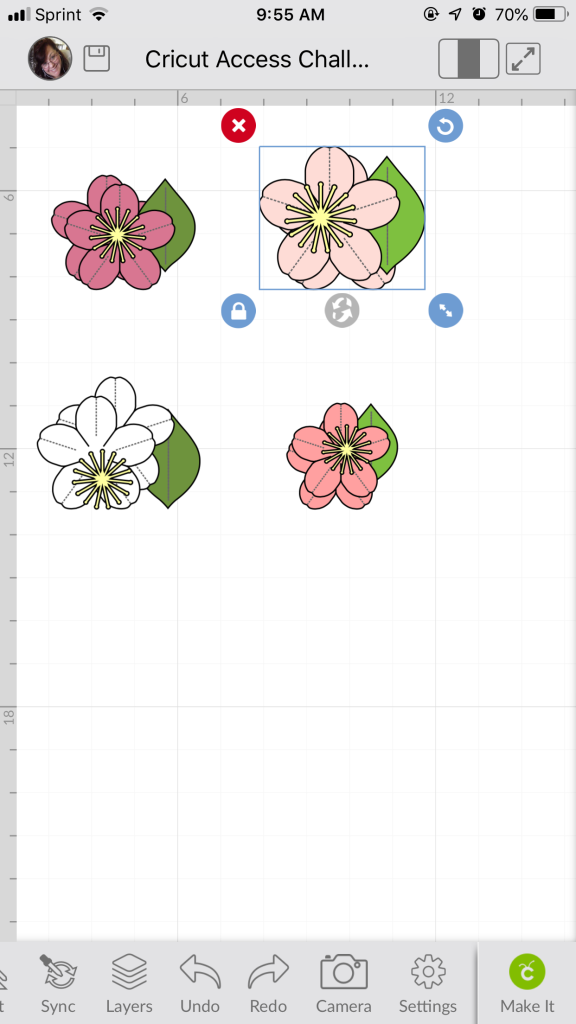 Cricut Access Challenge: Cherry Blossoms – Miss Rita to the Rescue!