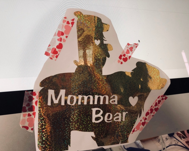 Momma Bear Car Decal