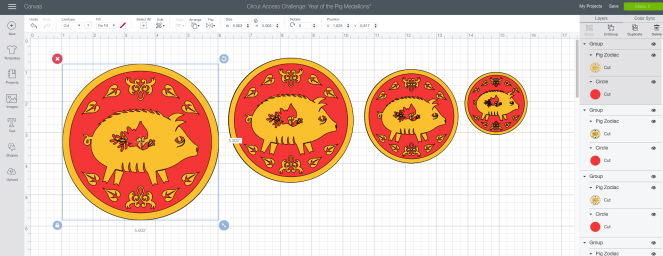 Year of the Pig Medallions